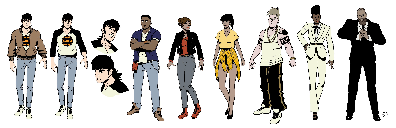 Character Design Lineup : Kevin lennertz illustration